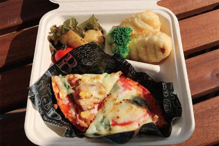 ピザBOX マルゲリータと照焼チキン Pizza Box Margherita and Teriyaki Chicken